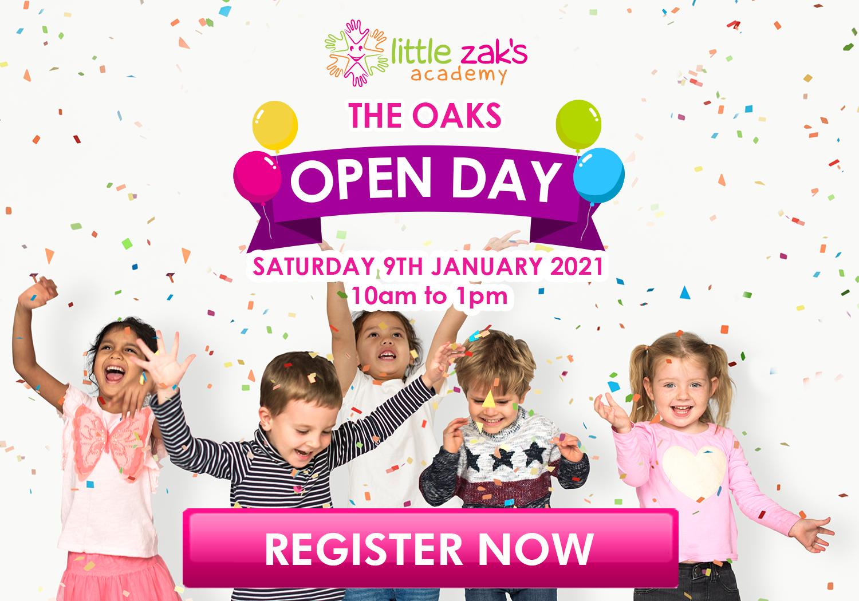 Little Zak's Academy The Oaks OPEN DAY 9TH OF JANUARY